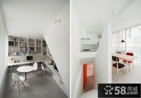 复式楼装修效果图简约书房装修效果图大全2014图片