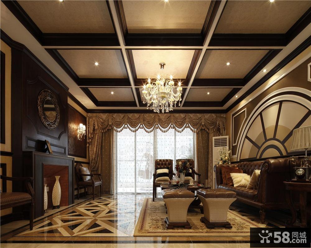 现代欧式客厅木龙骨吊顶图片图片