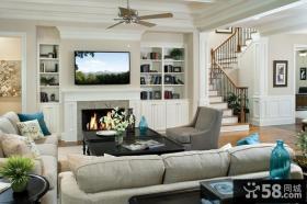 复式楼装修效果图 复式楼客厅设计效果图