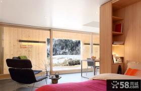 日式复式住房卧室家具图片欣赏