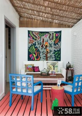 室内小客厅阳台装修设计效果图