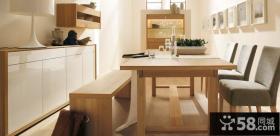 简单与朴素即是美现代简约餐厅装修效果图大全2014图片