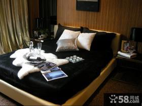 欧式新古典卧室榻榻米床效果图