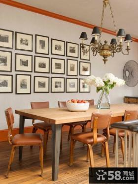 别墅实木餐桌椅图片欣赏