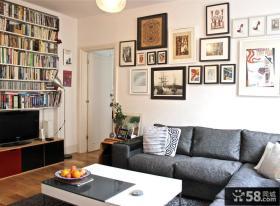 美式家庭设计室内客厅相片墙效果图大全