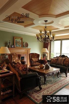 美式乡村风格客厅设计效果图