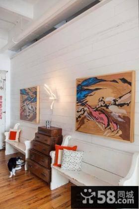 墙上家庭装饰画图片