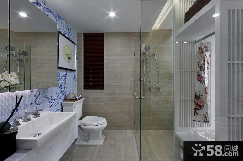 新中式居家卫生间装修效果图大全