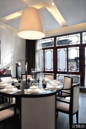 中式餐厅软装配饰图片