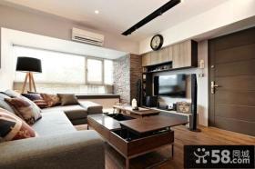 北欧设计时尚客厅电视背景墙图片欣赏