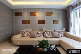 客厅沙发瓷砖背景墙效果图