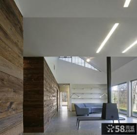 现代美式风格家居休闲区效果图