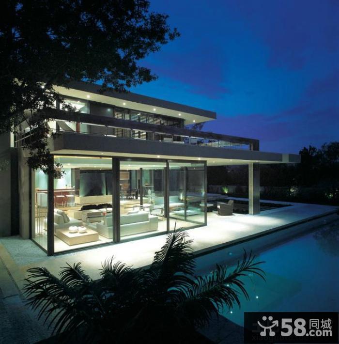 平顶别墅瓦外观效果图自建100别墅设计图平图片
