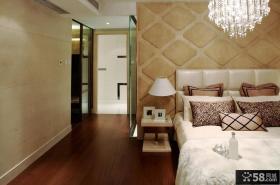 法式主卧室床头背景墙设计效果图