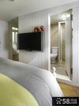 简单设计卧室电视背景墙