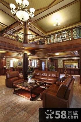 奢华欧式别墅室内客厅设计效果图片