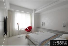 极简简欧风格卧室窗帘效果图