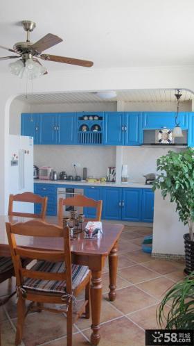 地中海设计餐厅厨房隔断图片大全