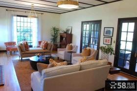 清新大气的的现代风格装修客厅吊顶图片