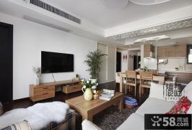 简单客厅电视背景墙装修效果图大全