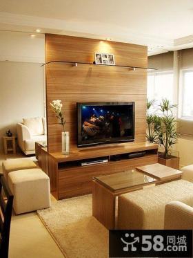 美式装修客厅电视背景墙图欣赏