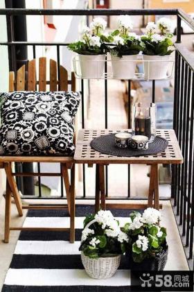时尚摩登小阳台装饰设计
