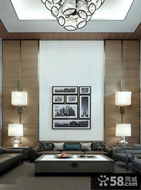 日式风格别墅房屋挑高客厅装修效果图