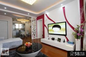 现代简约电视背景墙设计图欣赏