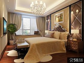 欧式主卧室装修设计 主卧室飘窗装修效果图