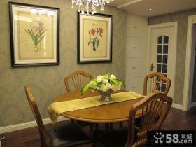 美式家庭餐厅装饰画效果图