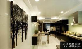 别墅厨房餐厅一体装修效果图片