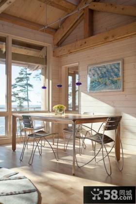 美式田园风格家具餐厅图片