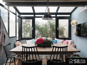 现代欧式生活阳台家具摆放效果图
