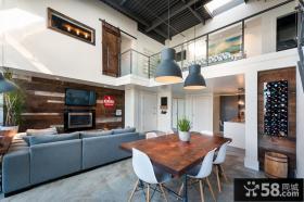 现代工业风复式家居装修案例