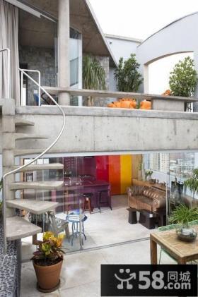 现代复式楼露台效果图