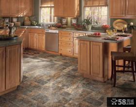 美式乡村风格厨房地砖设计