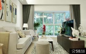 58平米简约田园公寓室内装修设计图片