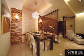 现代中式风格餐厅装修图片