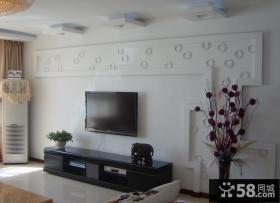 家居简约客厅电视背景墙效果图