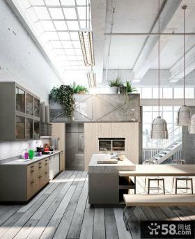 现代风格简单别墅厨房装修