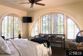 美式风格卧室窗户图大全
