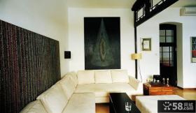 客厅墙上装饰画效果图片
