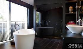 黑色大气的卫生间装修效果图大全2012图片