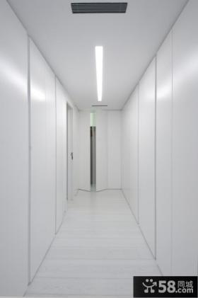 极简主义别墅室内过道设计效果图