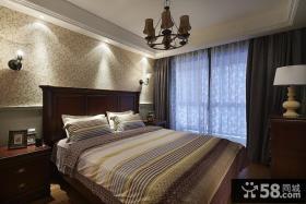 美式复古卧室设计装修效果图