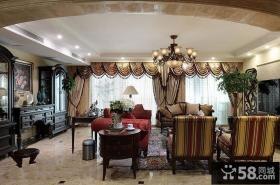 美式古典设计餐厅窗帘欣赏