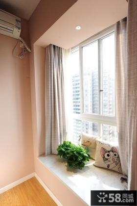 2013优质简约风格卧室飘窗装修效果图片欣赏