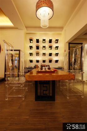 时尚古典中式家居餐厅设计装修效果图