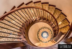地中海风格花纹楼梯装饰