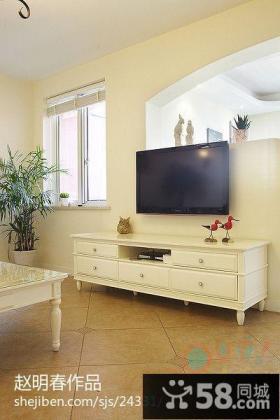欧式客厅电视机背景墙装修效果图欣赏
